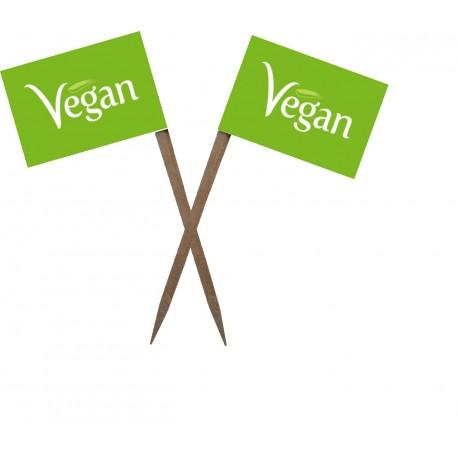 """Scobitoare cu Stegulet """"Vegan"""" - alb"""
