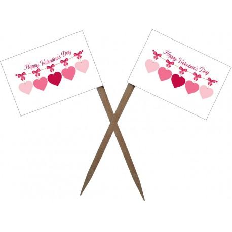 Scobitoare cu Stegulet  Valentine's Day M1