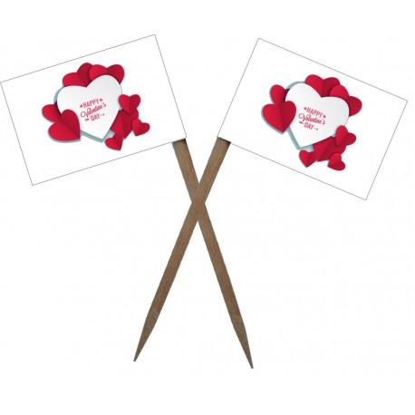 Scobitoare cu Stegulet Valentine's Day M3