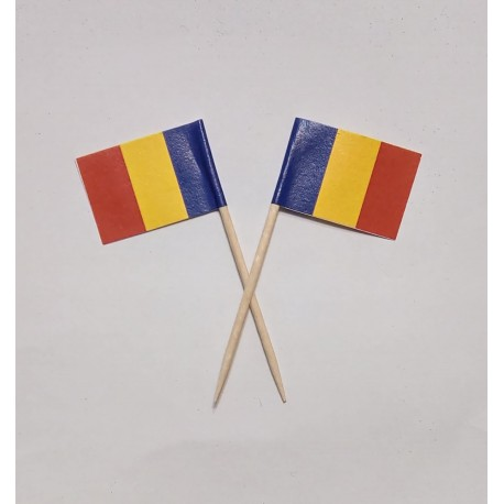 Scobitori cu Stegulet Romania/ Tricolor 2.9x2x6.3cm