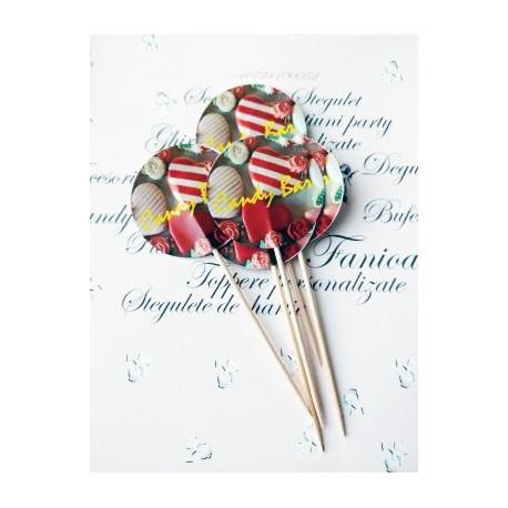 Topper Candy Bar 5cm Text galben