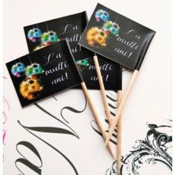 Set 50 stegulete aperitive Revelion Globuri colorate